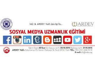 Ardev'de Sosyal Medya Uzmanlığı Eğitimi Başlıyor